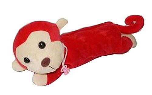 [Roter Affe] Schöne Tier Plüsch Federmäppchen Bleistift Tasche Stifthalter