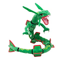 Character:Rayquaza Size : Approx About 30 Inch Recommended Age: 4+ years Country Of Origin: Made in China Care Instructions: Surface Wash only
