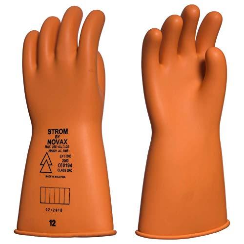 IJs: diëlektrische latex handschoenen. Klasse 3-26500 Volt 9 oranje