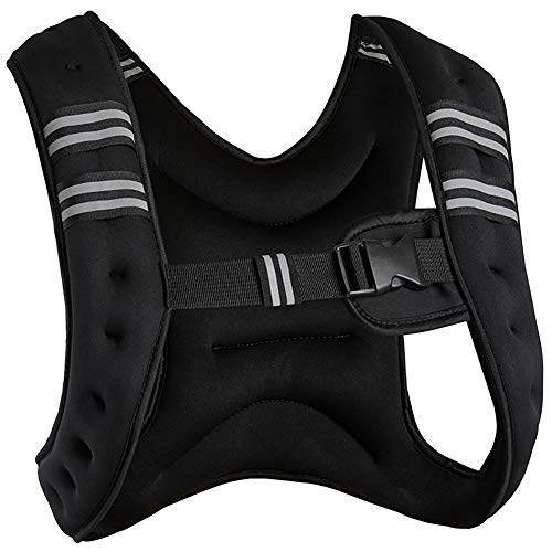 Running Weight Vest for Men Women Kids 6 8 10 12 20 Lbs Weights Included, Body Weight Vests for Training Workout, Jogging, Cardio, Walking, Elite Adjustable Weighted Vest Workout Equipment (20)