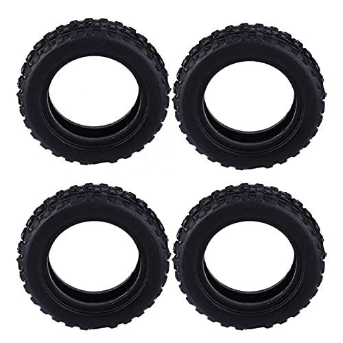 UGUTER ZLD 4 unids/Set RC Wheel Tension Tense Neumático Control Remoto Toy Model Modely Accessories para K979 K989 RC Piezas de Repuesto de vehículos (Color : Black)