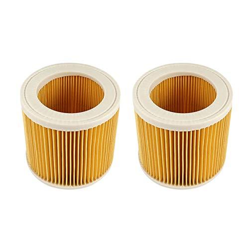 OVBBESS 2 unids reemplazo filtro HEPA para Karcher WD2.200 WD3.500 A2004 A2054 húmedo y seco aspiradoras partes