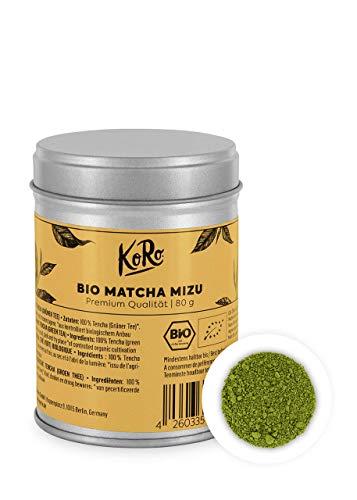 KoRo - Bio Matcha Mizu 80 g - Grüner Tee in Premium- Kochqualität - In praktischen Metalldose