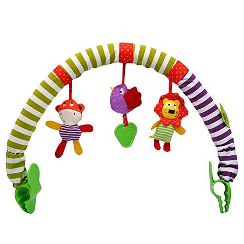 Koowaa Kinderwagen-Spielzeug für Baby, Kinderwagen, Kinderwagen, Baby, spiralförmige Aktivität, Hängespielzeug, Cartoon-Tier, Spielbogen für Neugeborene, Kleinkinder und Säuglinge