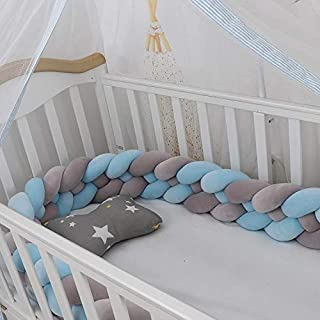 RedSuns Baby Crib Protector 3Weave Bed Snake Braided Protect Decoration for Crib Cot Newborn Gift Cradle Nursery Cradle Decor for Kids