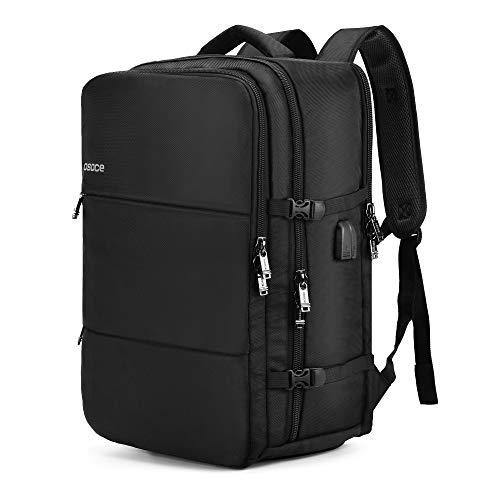 OSOCE Large Travel Backpack with USB Charging and Headphone port.Airline...
