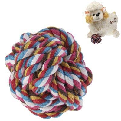 Chiens & Chats Balle/kauball/wurf nœuds/Jouet/Balle en coton pour des gencives 6,5 cm