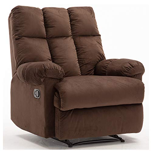 Bonzy Home Recliner Chair - Heavy Duty Manual Overstuffed...