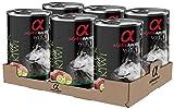Alpha spirit Alimento Completo Húmedo para Perros Pato con Kiwi - Paquete de 6 x 400 gr - Total: 2400 gr
