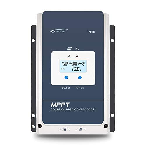 EPEVER 60A MPPT Solar Charge Controller 12V/24V/36V/48VDC Auto System Voltage Max.PV 150V Solar Panel Regulator with Backlight LCD Display(Tracer 6415 an)