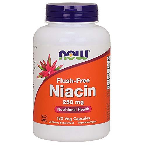Now Foods Niacina Flush-Libre 250 mg 180 Unidades 160 g
