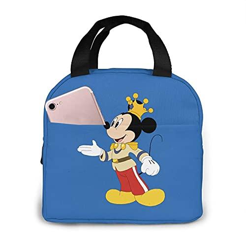 Mickey Mouse King Borsa termica impermeabile riutilizzabile Lunch Box per donne adulti picnic lavoro scuola