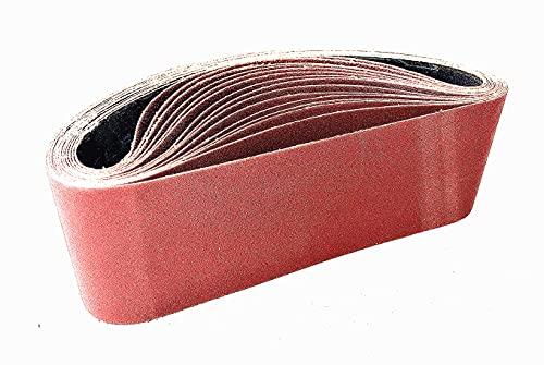 Bande Abrasive 75x457 mm (15 pièces) 80 120 150 240 400 grain, 3 pièces chacun de Bandes Abrasives pour ponceuses à bande -NIKARUNY