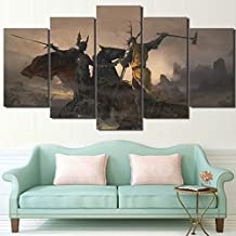 Hanging Painting Art Painting Wallpaper Mural FASHIONS 5 Pieces Canvas Painting Unframed Home Decoration Modern Wall Art Poster Canvas 5 Panel Game Of Thrones Living Room Hd Print Painting Modular Pic