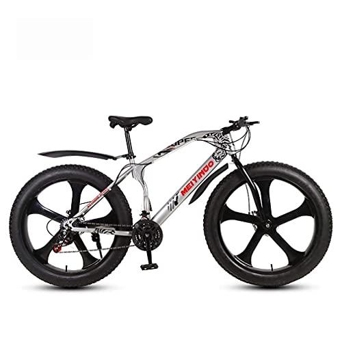 N&I Bicicleta de montaña para adultos Fat Tire Bionic Front Fork Snow Bikes Double Disc Brake Beach Cruiser Wheels C 27 Speed E 24 Speed
