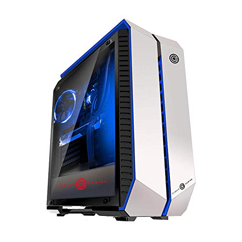 Circle Gaming Infernova Z Gaming White Blue ATX Mid-Tower Case (White)