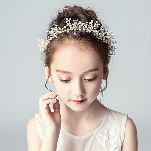 Vqxrhf Ein Mädchen Show Kopf Schmuck, Kinderkleid Zubehör Haarschmuck Stirnband, Blume Brautkleid Stirnband Haarband