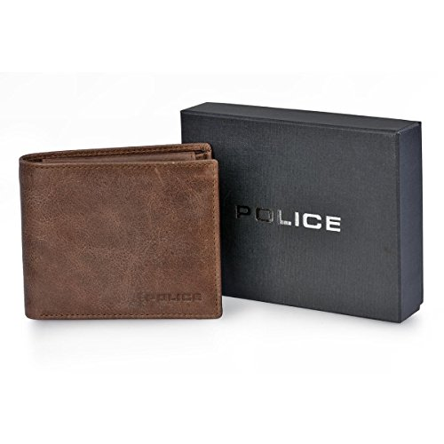 Police 6319-915, Herren Herren-Geldbörse Braun braun talla unica
