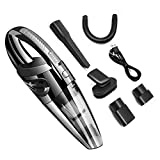 ADTZYLD Handheld Car Vacuum Cordless Cleaner USB Charger Wet Dry Strong Cyclone Suction Lightweight Portable Auto Mini Car Vacuum