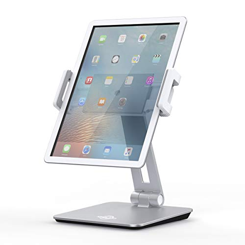 Tablet Stand Holder, KABCON Tightness Adjustable Multi-Angle Foldable Eye-Level Aluminum Solid Tablets Stands Dock for 7''-13''Tablets/Phone, iPad Series,Samsung Galaxy Tabs,Kindle Fire,Etc.