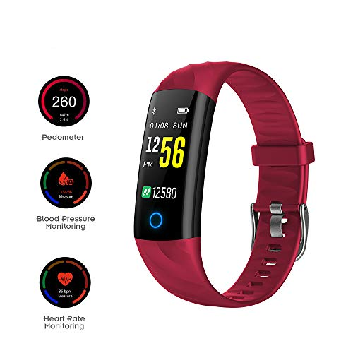 Bluetooth Smart Watch-armband Fitness Tracker met hartslagmeter Stappenteller Waterdicht IP67 0.96 Inch-scherm Gratis APP