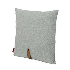 """crib bedding and baby bedding christopher knight home 305384 dunn mid century 25"""" square fabric pillow with faux leather, gray, grey + autumn tan strap"""