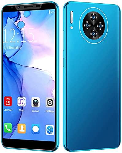 WWJ Telefone Celular M30 Plus de 5,8 Pol, Smartphone Dual Standby de cartão Duplo de 6 GB + 64 GB para Sistema Android, telefone MTK6797 3G 8MP + 16MP, com bateria de íon-lítio de 4000 mah, azu