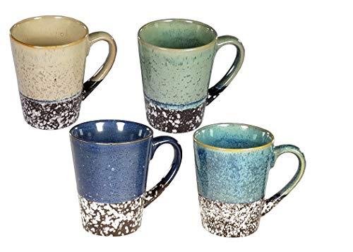 4 pc Multi Color 12 Oz Coffee Mug Set (Multi Color 3)