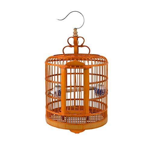 Grive Cages À Oiseaux Cages À Oiseaux En Bambou Kerry Birdhouses Cages À Oiseaux Canaris Suspendue Grande Cage À Oiseaux (Color : A, Taille : Small)