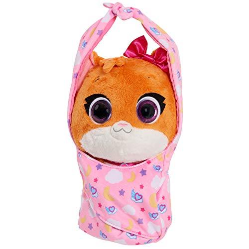 Disney Jr T.O.T.S. Cuddle and Wrap Plush, Mia The Kitten, Stuffed Animal, Soft Toy