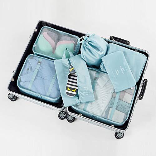DSJSP Bolsas de viaje esenciales para viajes, bolsa de almacenamiento de viaje, organizadores de 7 bolsas de almacenamiento transpirables y ligeras (color D: D)