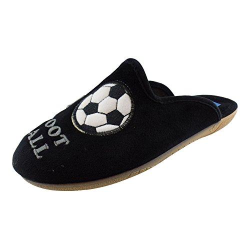 ALBEROLA Hausschuh Pantoffel Herren HELLE Sohle I Love Football AC6276AS - EU 39-50 (47)
