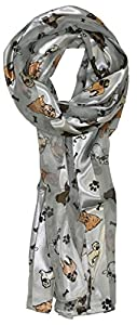 Scarf with dogs on it