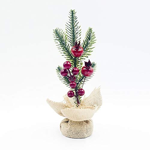 Ebogor for 2 PCS Creative Christmas Pine Needles Cutting Table Decoration(Upper Pine Cone (Color : Red Fruit)