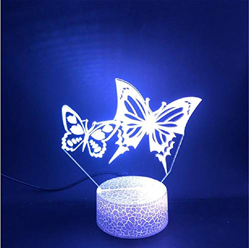 3D Lamp The Butterfly Lovers The here for Indoor Decoration Battery Powered USB Led Night Light Lamp