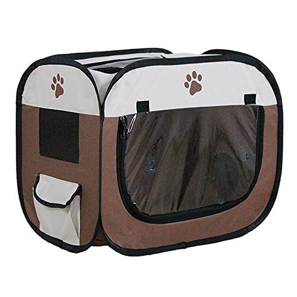 永遠のライトニングパックHAMILO ペットドライルーム ペット乾燥箱 ドライヤーハウス 折り畳み式 ワンタッチ 犬 猫 (ブラウン)