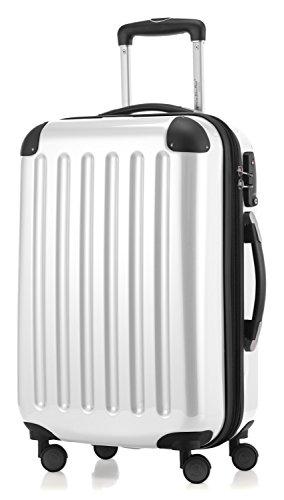 HAUPTSTADTKOFFER - Alex - Equipaje de mano cabina, Trolley rigido, TSA, 55 cm, 42 litros, Blanco