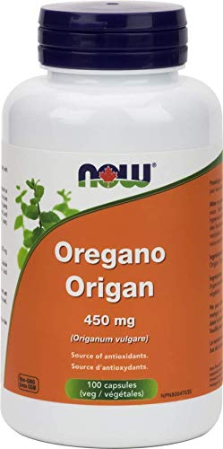 NOW Oregano 450mg 100 Veg Capsules, 100 g