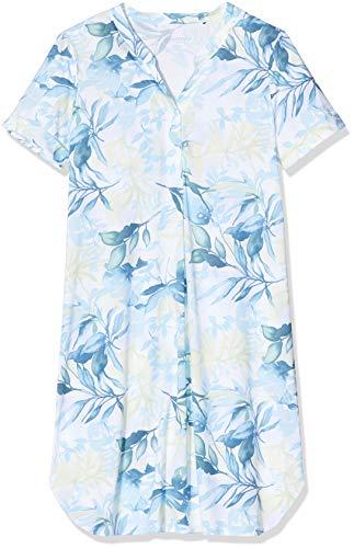 Schiesser Damen Sleepshirt 1/2 Arm, 100Cm Nachthemd, Blau (Aqua 833), 36...