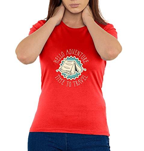 Hello Adventure Time to Travel Damen T-Shirt XX-Large