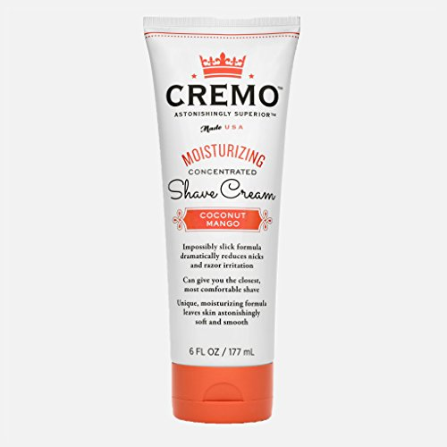 PACK OF 6 - Cremo Astonishingly Superior Coconut Mango Moisturizing Concentrated Shave Cream, 6 fl oz