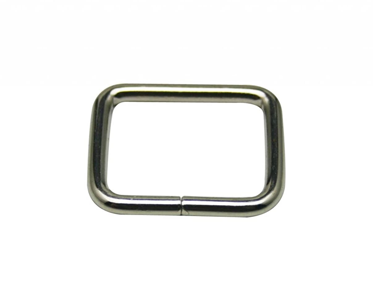 Generic Metal Silvery Rectangle Buckle 1