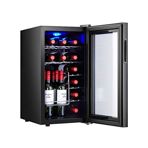 MINGDIAN Enfriador de Vino de 18 Botellas, Enfriador de Vino con compresor Independiente con Control de Temperatura Digital para Vino Tinto/Blanco, champán y más