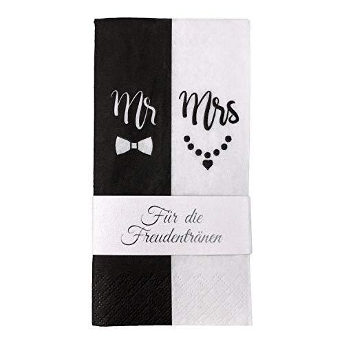 Katinga - Fazzoletti tascabili, colore: Bianco/Nero