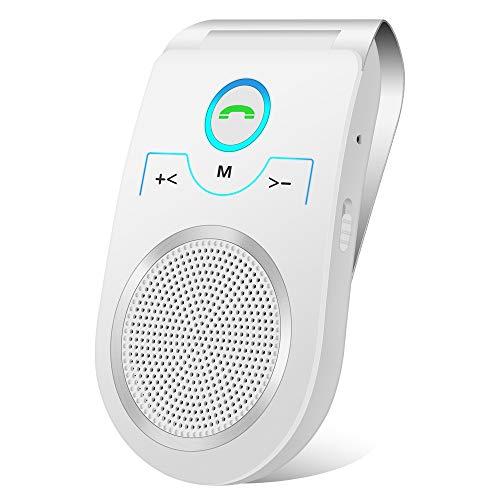 Aigital [Deutscher Version] T825 Kfz Freisprecheinrichtung Bluetooth Auto Freisprechanlage Visier Car Kit, für GPS,Musik,Handsfree für 2 Telefone gleichzeitig