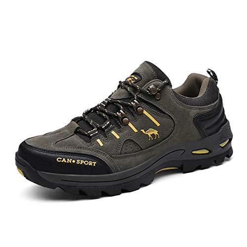 HUIXUJPN Men Hiking Shoes Autumn Winter Outdoor Brand Mens Sport Trekking Mountain Boots Waterproof Athletic Shoes (Color : Green, Size : 43 M EU)
