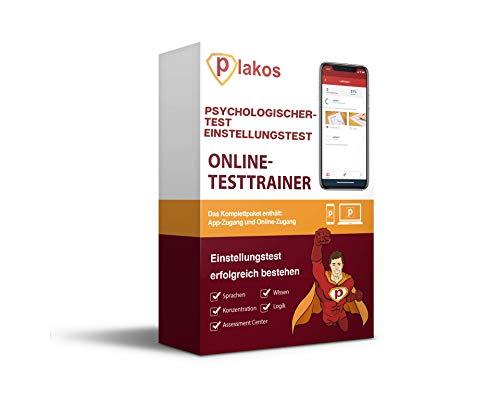 Psychologischer Test / Einstellungstest Online-Testtrainer: authentische Aufgaben + Tests zu Sprache, Konzentration, Allgemeinwissen, Logik | Vorbereitung auf das Auswahlverfahren + Assessment Center