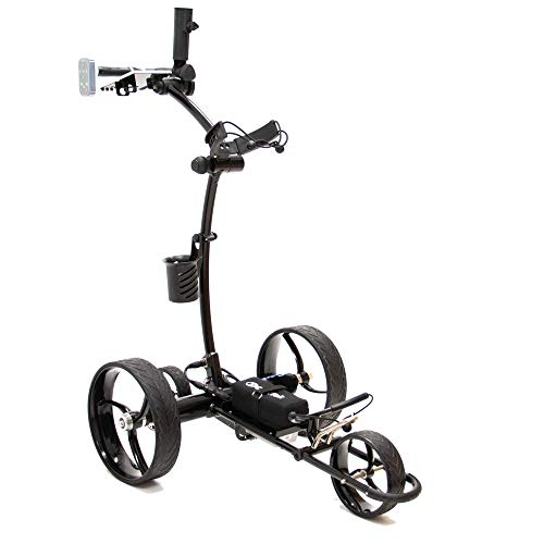 Cart-Tek Electric Golf Push cart with Remote Control - Gri-1500Li V2 Lithium Battery Electric Golf Caddy w/Free Accessory Bundle! Stop lugging or Pushing Your Bag, Save Energy for Your Swing Today!