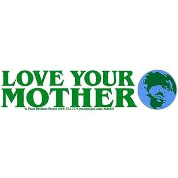 Bumper Sticker//Decal 4.25 Circular Peace Sign Over Earth