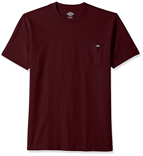 Dickies Men's Big and Tall Heavy Weight Crew Neck, Burgundy, 5X